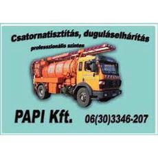 Papi Profi Kft. - csatornatisztítás, duguláselhárítás