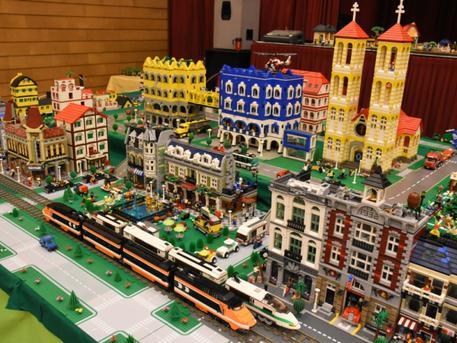 Lego város és vasút egy korábbi kiállításon