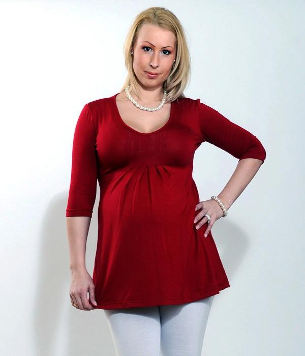 Kismama ruházat kedvező árakkal. Piros kismama tunika 881a812d2b